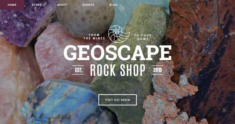 Geoscape Rock Shop Website