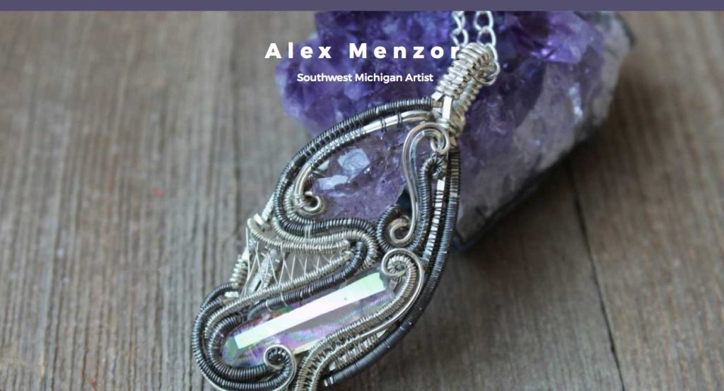 Artist website for Alex Menzor by Hanna Larcinese